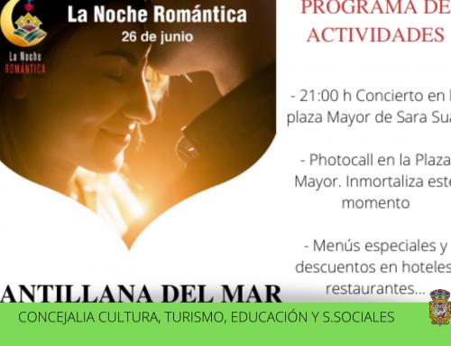 El municipio de Santillana del Mar celebra la noche romántica el 26 de junio