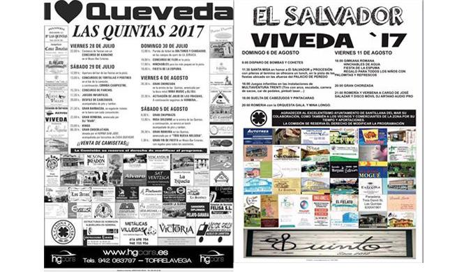 Las localidades de Viveda y Las Quintas celebran este fin de semana sus Fiestas Patronales